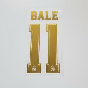 Real-Madrid-2019-2020-Gareth-Bale-Shirt-Jersey-Shirt-Name-Number-11-Set-Gold