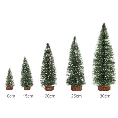 Mini Christmas Snow Tree kleine Kiefer Tabelle Office Home Dekoration Ges sg