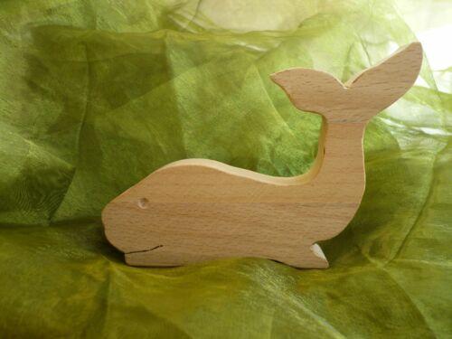 Wal Fisch Holzdeko Tier  aus Sperrholz Buchenholz Handarbeit Basteln Geburtstag