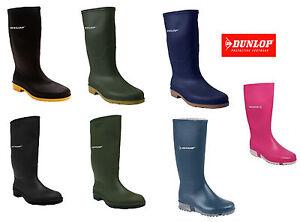 BOYS-GIRLS-KIDS-DUNLOP-WELLINGTON-BOOTS-WATERPROOF-SNOW-RAIN-SHOES-UK-SIZE-10-6