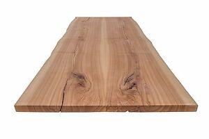 tischplatte massivholzplatte esche massiv mit baumkante ge lt 104 x 310 cm ebay. Black Bedroom Furniture Sets. Home Design Ideas