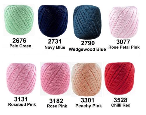 ANNE 65 Crochet Coton Doux Fil Tricotage fil Uni panaché #3 65m