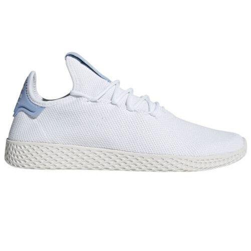 Adidas PHARRELL WILLIAMS HU TENNIS TRAINERS WHITE blueE MEN'S UNISEX SUMMER NEW