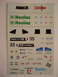 DECALS-KIT-1-43-WR-PEUGEOT-TEAM-WALTER-RACING-LE-MANS-2000-N-35-DECALCOMANIA