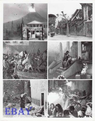 ! Last Days Of Pompeii VINTAGE Photo 6 images on one 8 X 10 photo