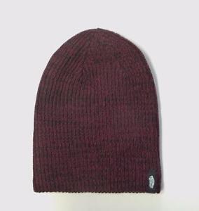 9a787e0cd56 Vans Off The Wall Mismoedig Beanie Burgundy Black Marled Cuff Hat ...