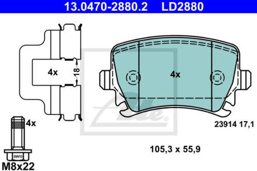 UAT Ceramic Bremsbelagsatz 13.0470-2880.2 Skoda Octavia II Combi 1z5