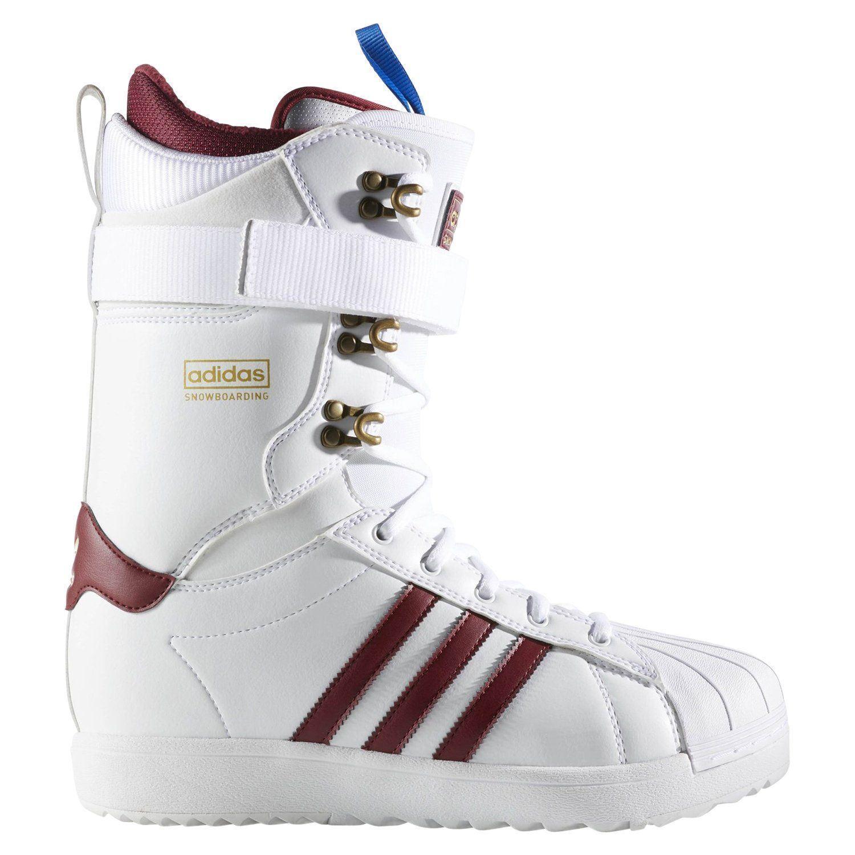 Adidas Original Superstar Adv Snowboard Stiefel HERREN Weiß Winter Warm Bequem