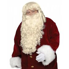 Super Deluxe Santa Claus Wig & Beard Set Adult Mens Christmas Costume Accessory