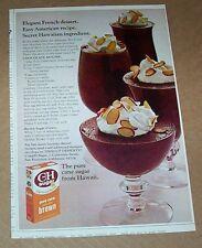 1972 print ad - C & H Hawaii sugar Chocolate Mousse recipe vintage advertising