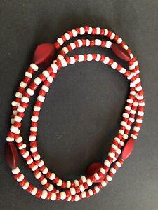 ELEKE-Collar-De-Orisha-SHANGO-decor-Ileke-Santeria-Yoruba-Collar-Religioso