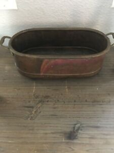 Vintage-Copper-Hand-Hammered-Container-Holder