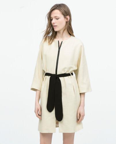 Coat Ecru Sleeve Maat Belted Zara Bnwt Kimono S FpqwZA