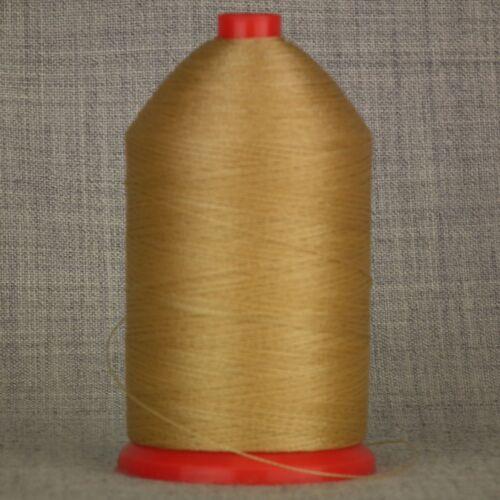 Fuerte de los 60 une Nylon 1,000 Mtr Carrete Hilo De Coser Marrón Tostado artesanías de cuero
