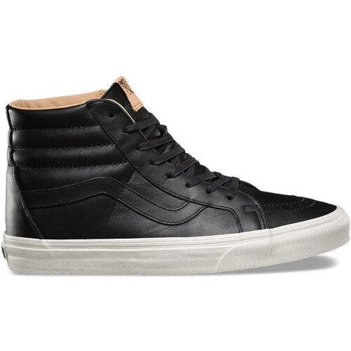 Vans Sk8 Hi Reissue Scarpe Calzature UnisexLUX in pelle nera PORCINI tutte le taglie