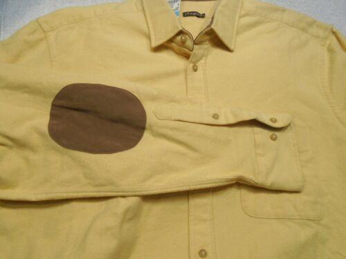 de algodón 155 parches Camisa Mclaughlin deportiva Large J 100 con cepillado codo Nwt qEYEFSw