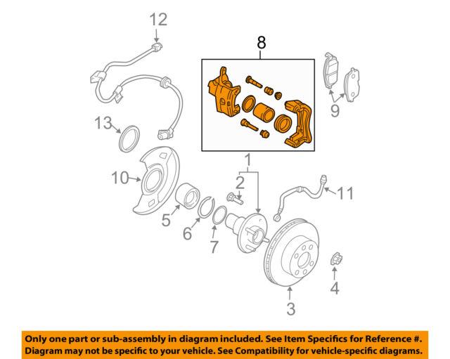 Nissan Oem 00 06 Sentra Front Brake Caliper Assembly 410114z300 Ebay