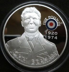 History-Of-The-RAF-Sterling-Silver-Proof-5-St-Helena-2008-John-Braham-COA