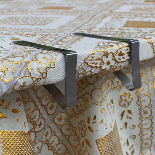 4X Stainless Steel Tablecloth Cover Clips Holder Cloth Clamps Party Picni Cosp