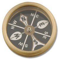 Marbles Brass Large Pocket Compass - Mr223 - In Package