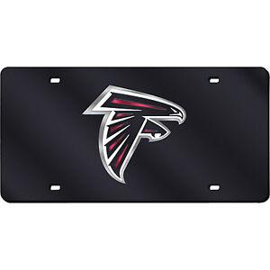 Atlanta-Falcons-Black-Mirrored-Laser-Cut-License-Plate-Laser-Tag