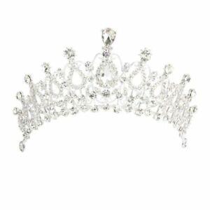Tiara-bandeau-Princess-Crown-in-Rhinestones-for-Wedding-Bal-L3J2