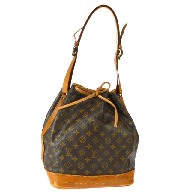 LOUIS VUITTON NOE DRAWSTRING SHOULDER BAG PURSE MONOGRAM M42224 883FC A49533