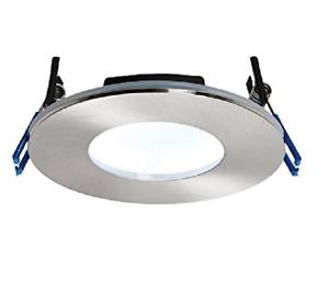 Saxby 69884 Satin Nickel OrbitalPLUS Fire Rated LED Downlight 9W Cool White IP65