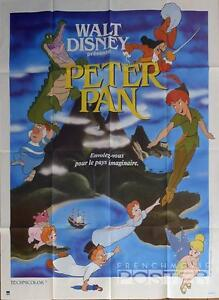 Image Is Loading PETER PAN DISNEY ANIMATION NEVERLAND REISSUE LARGE FRENCH