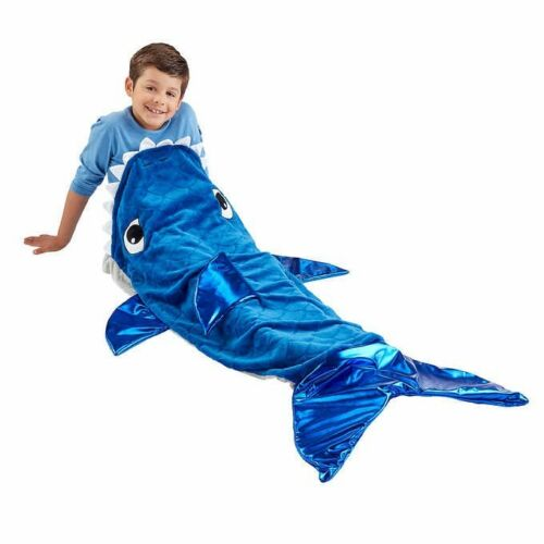 Plush and Playful Character Throw Blanket Shark Fish Tail Free Fast Shipping