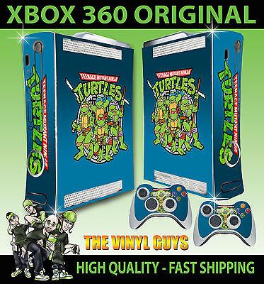 Amicable Xbox 360 Classic Teenage Mutant Retro Turtle 90's Style Old Skool Sticker Skin