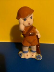 VNTG-1940-039-S-DELEE-ART-6-034-SOLDIER-FIGURINE-POTTERY-HOLLYWOOD-CA-RARE