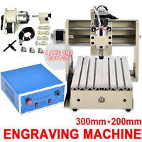 4-axis 3020 Cnc Router Engraver Pcb Pvc Milling Wood Carving Desktop Machine