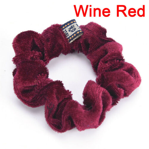 Women Velvet Hair Scrunchies Elastic Hair Bands Ties Ponytail YL