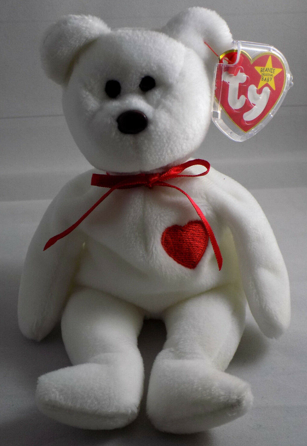 TY Beanie Baby VALENTINO the BEAR Very Rare 1993 with ERRORS & misspelling