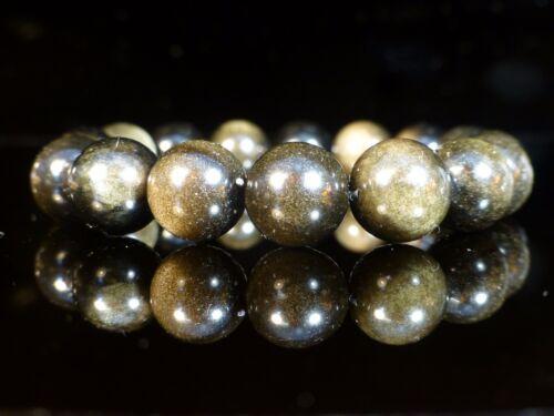 Obsidiana piedras preciosas terapéutico Pulsera De Oro