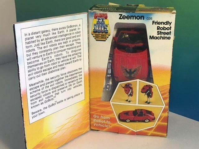 Vintage gobots actionfigur roboter transformator 1985 tonka spielzeug zeemon rotes auto