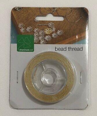 Bead Thread Beige 30m Jewellery Making Beading G006 Aussie Seller