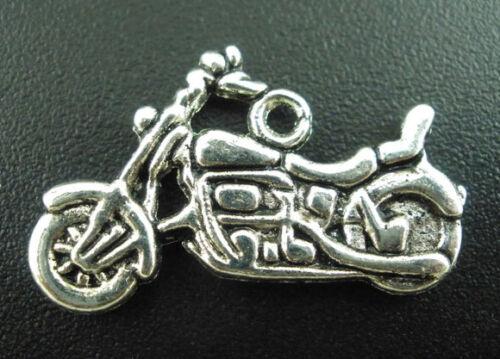 30 Antiksilbert Motorrad Anhänger Perlen Beads 24*14mm PD