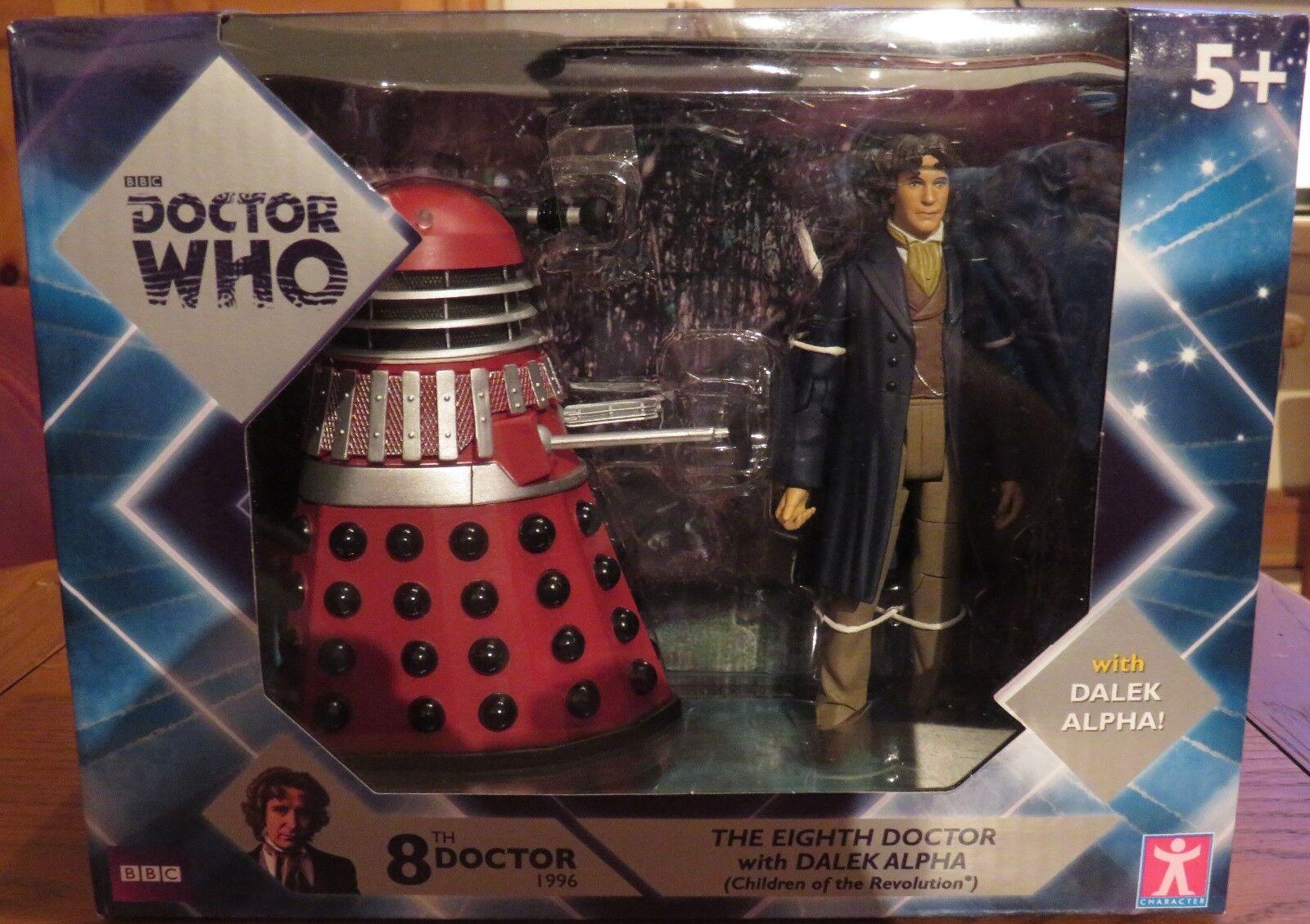 Doctor Who 8th doctor & Alfa Dalek Exclusivo Paquete Doble-Totalmente Nuevo-último