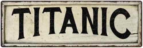 TITANIC Farmhouse Style Wood Look Sign Gift   Metal Decor 106180028285