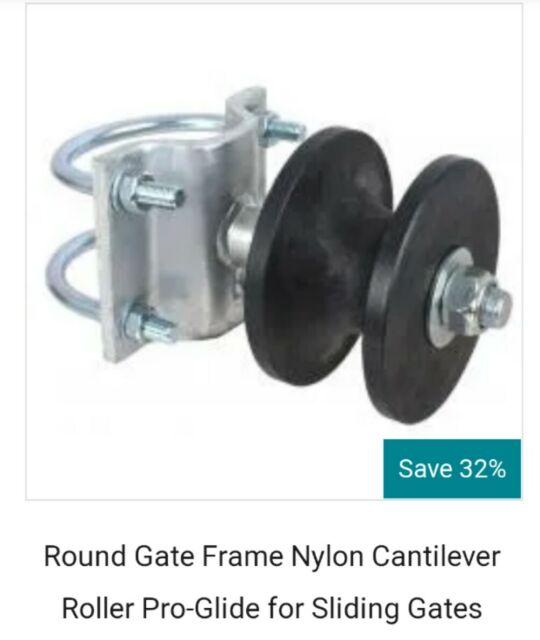 "4/"" Round Post x 2/"" Square Gate Premium Nylon Cantilever Roller Gate Roller"