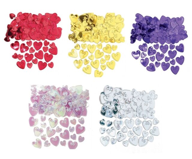 Embossed LOVING HEARTS CONFETTI (14g) {Amscan} (Valentines/Celebration/Party)
