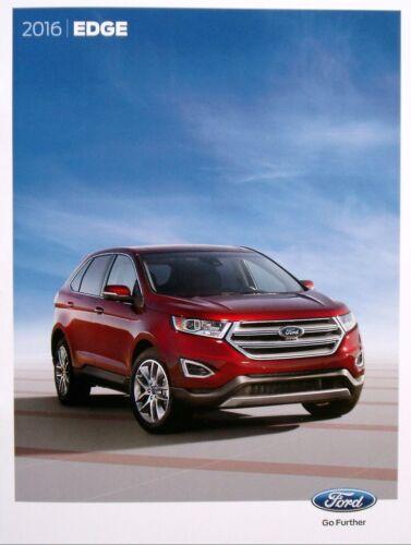 2016 Ford Edge 28-page Original Sales Brochure Catalog Titanium Sport SEL