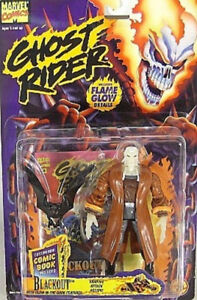 Ghost-Rider-Series-1-1995-Blackout-with-Mini-Comic-Book-by-Toy-Biz-MOC