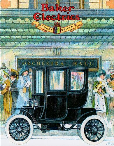 Baker Electrics Automobile Car Advertisement Poster