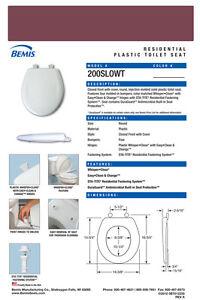 Bemis 200SLOWT-373 Round Plastic Slow Close Toilet Seat - LOGANBERRY