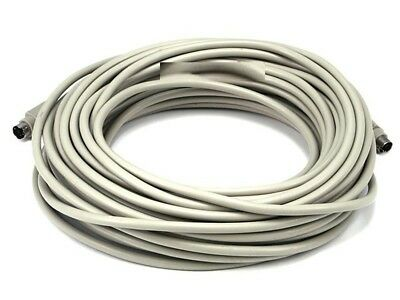 50ft 6pin PS//2 Mini DIN6 MDIN M DIN 6 MDIN6 Male to Male M//M Gray Cable