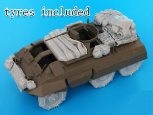 1-35-Resin-US-M20-Armored-Car-Stowage-amp-Accessories-Unpainted-QJ079