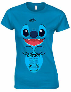 Lilo Y Costuras Ohana Frase ángel Significa Familia Mujer Camiseta